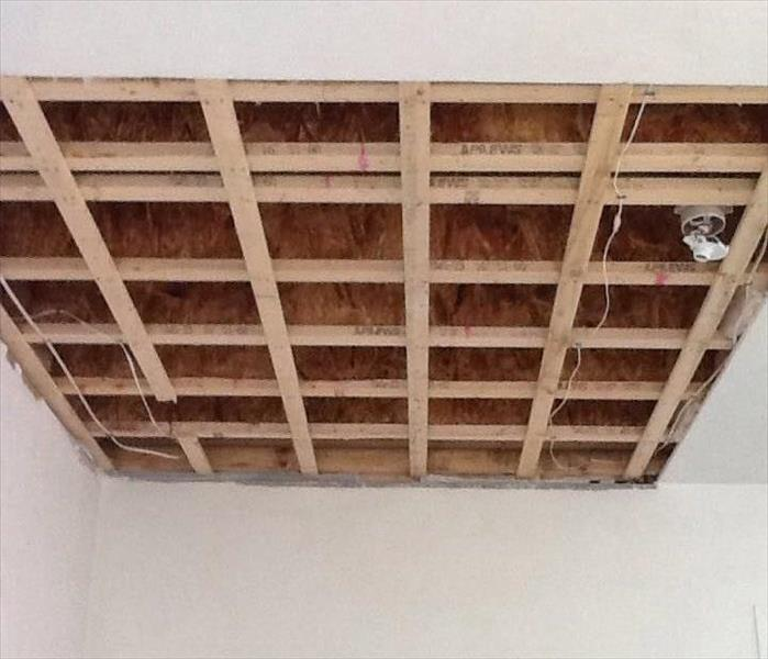 Water Damage to Garage Ceiling  Before