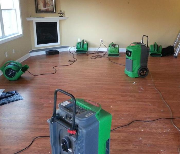 Water Removal In a Shrewsbury Living Room