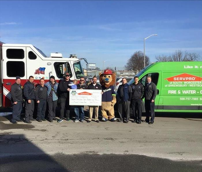 Worcester Fire Fighters, SERVPRO of Shrewsbury/ Westborough and Worcester Bravehearts